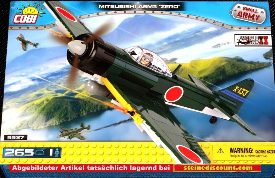 cobi 5527 - mitsubishi a6m3 zero flugzeugmodell bausatz cobi 5527